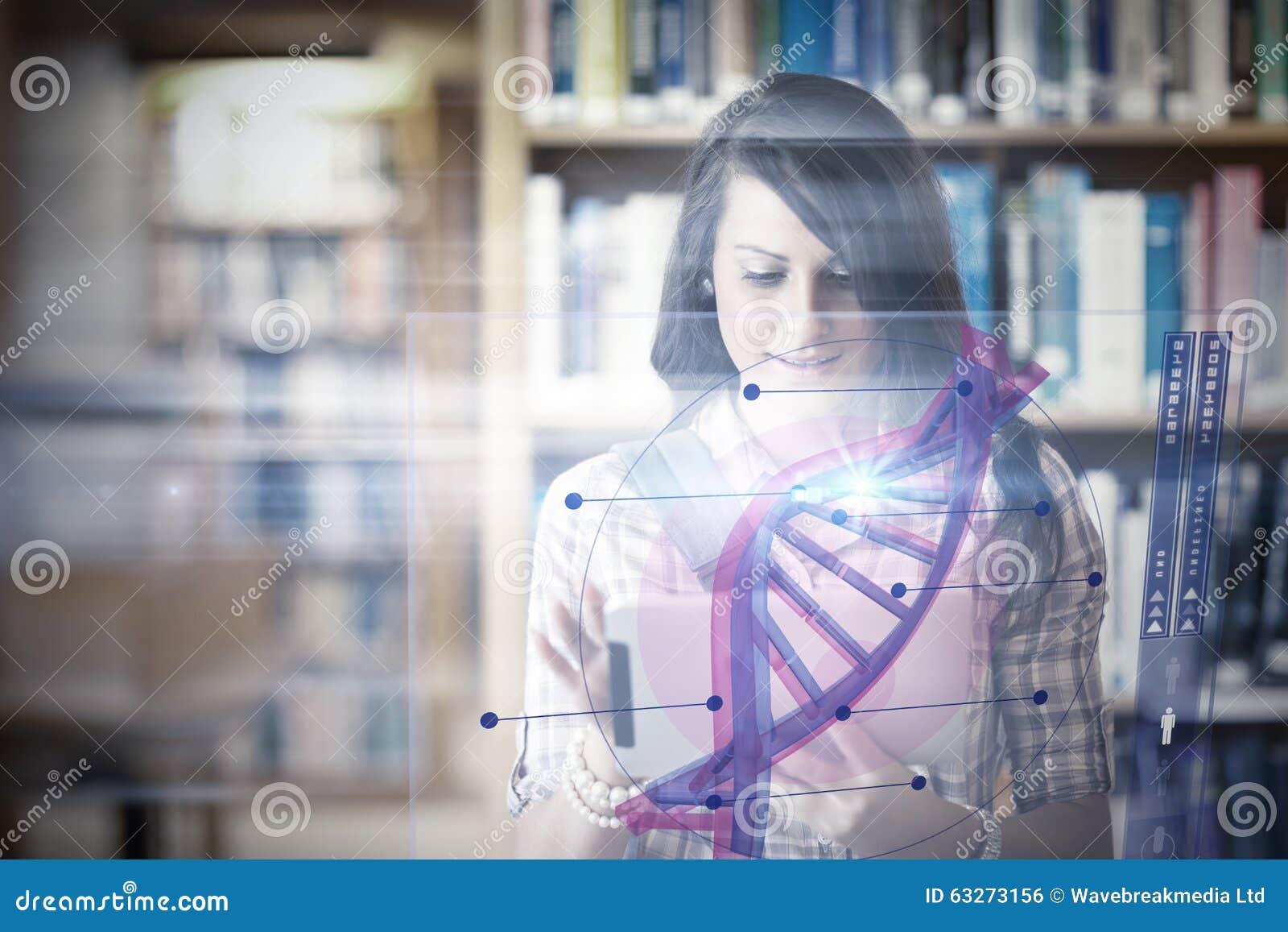 Image composée d illustration de l ADN