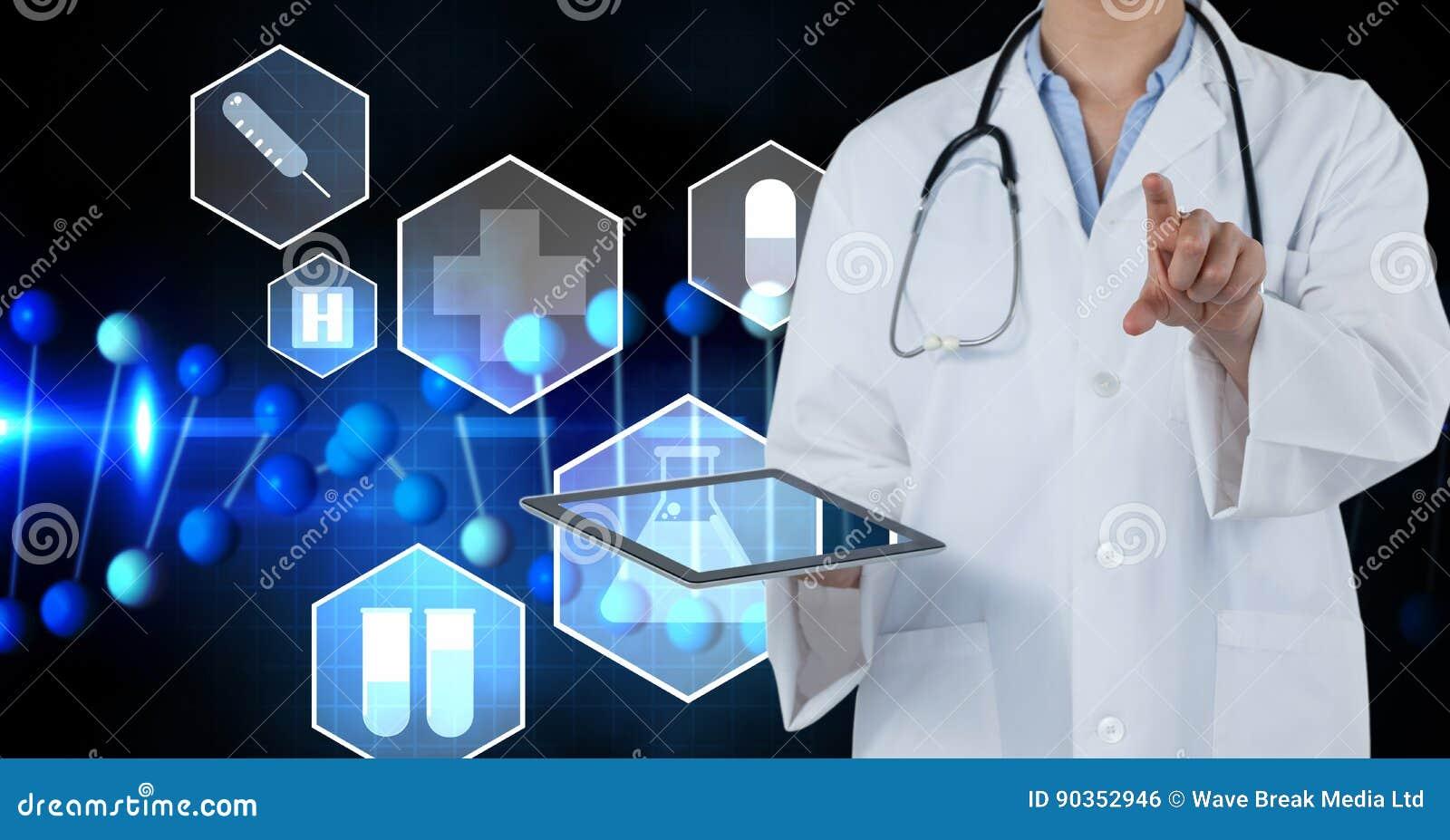 Image composée de Digital des icônes médicales par le docteur