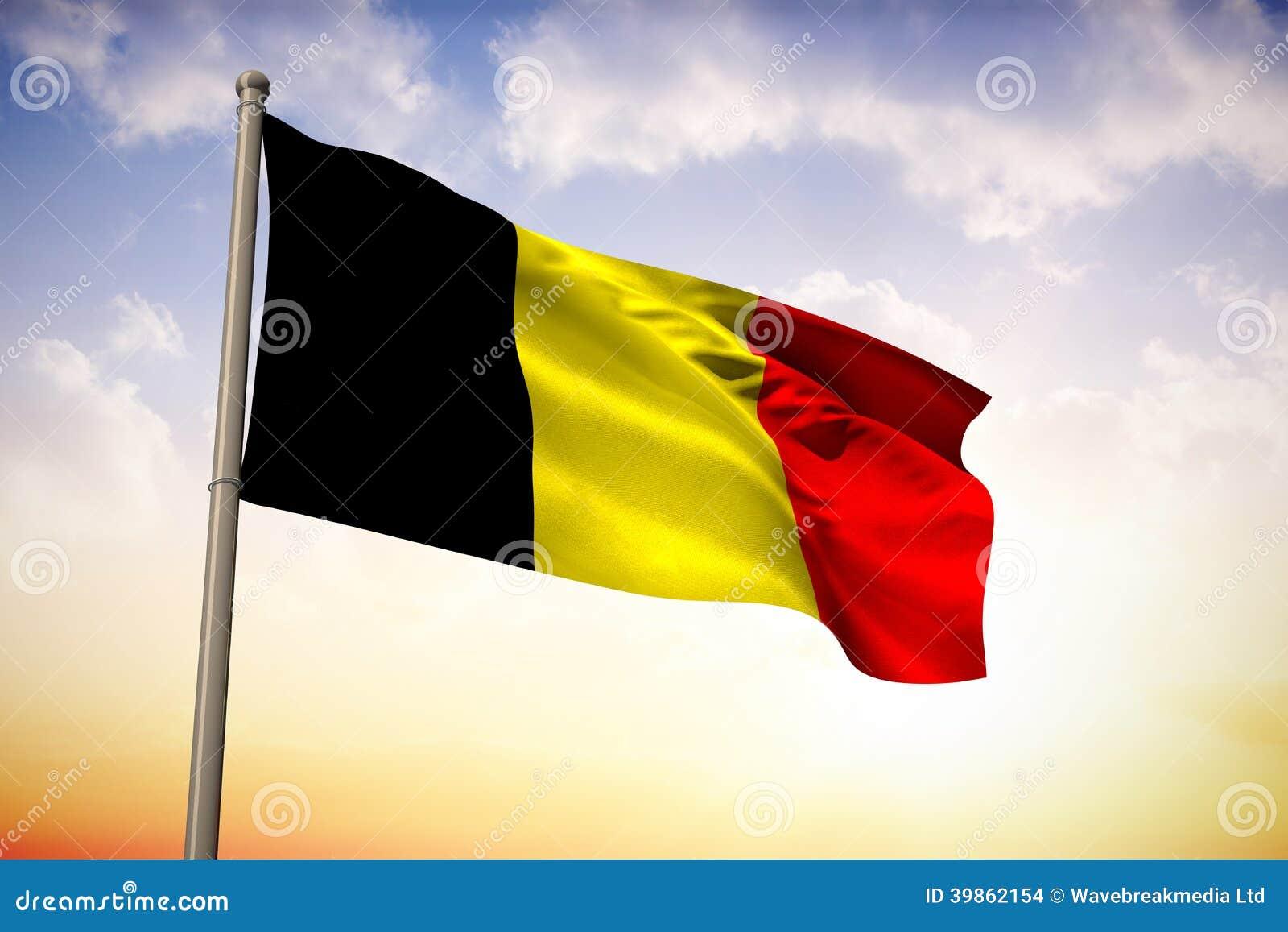 Image composée de drapeau national de la Belgique