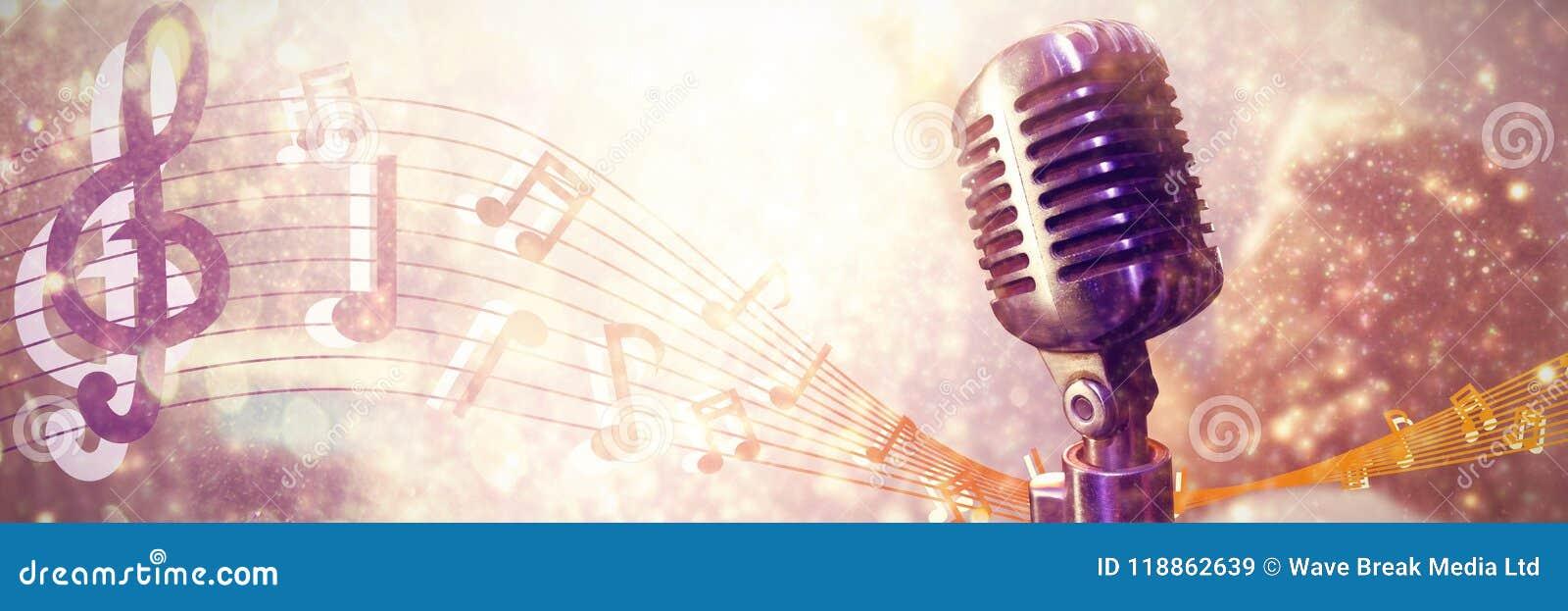 Image composée de plan rapproché de microphone