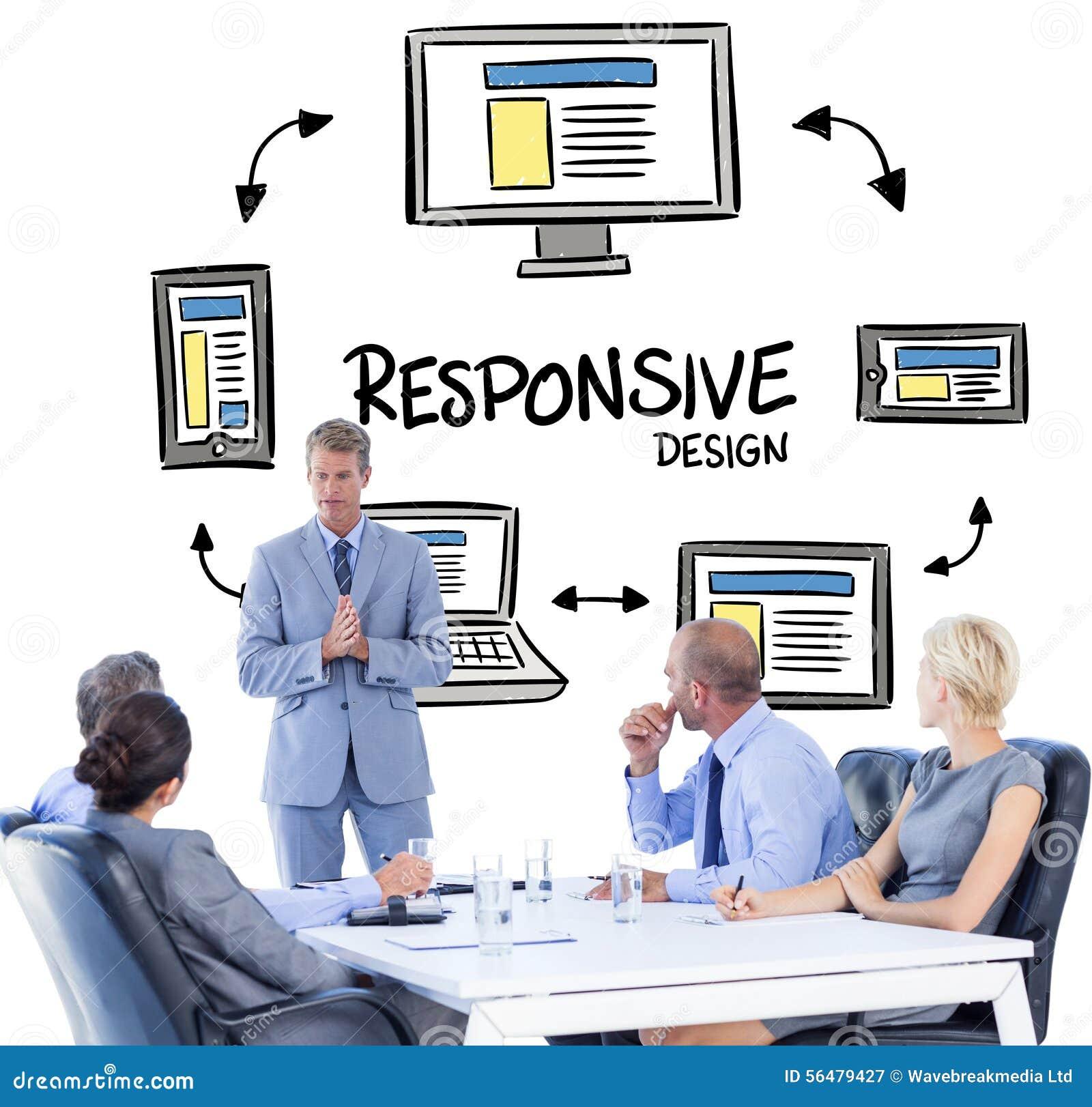 Image composée des gens d affaires écoutant au cours de la réunion