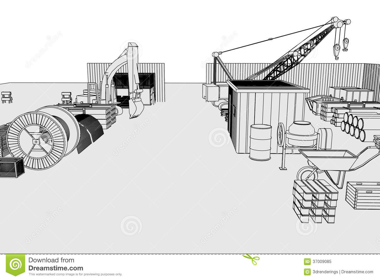 Image of construction site stock illustration. Illustration of ...