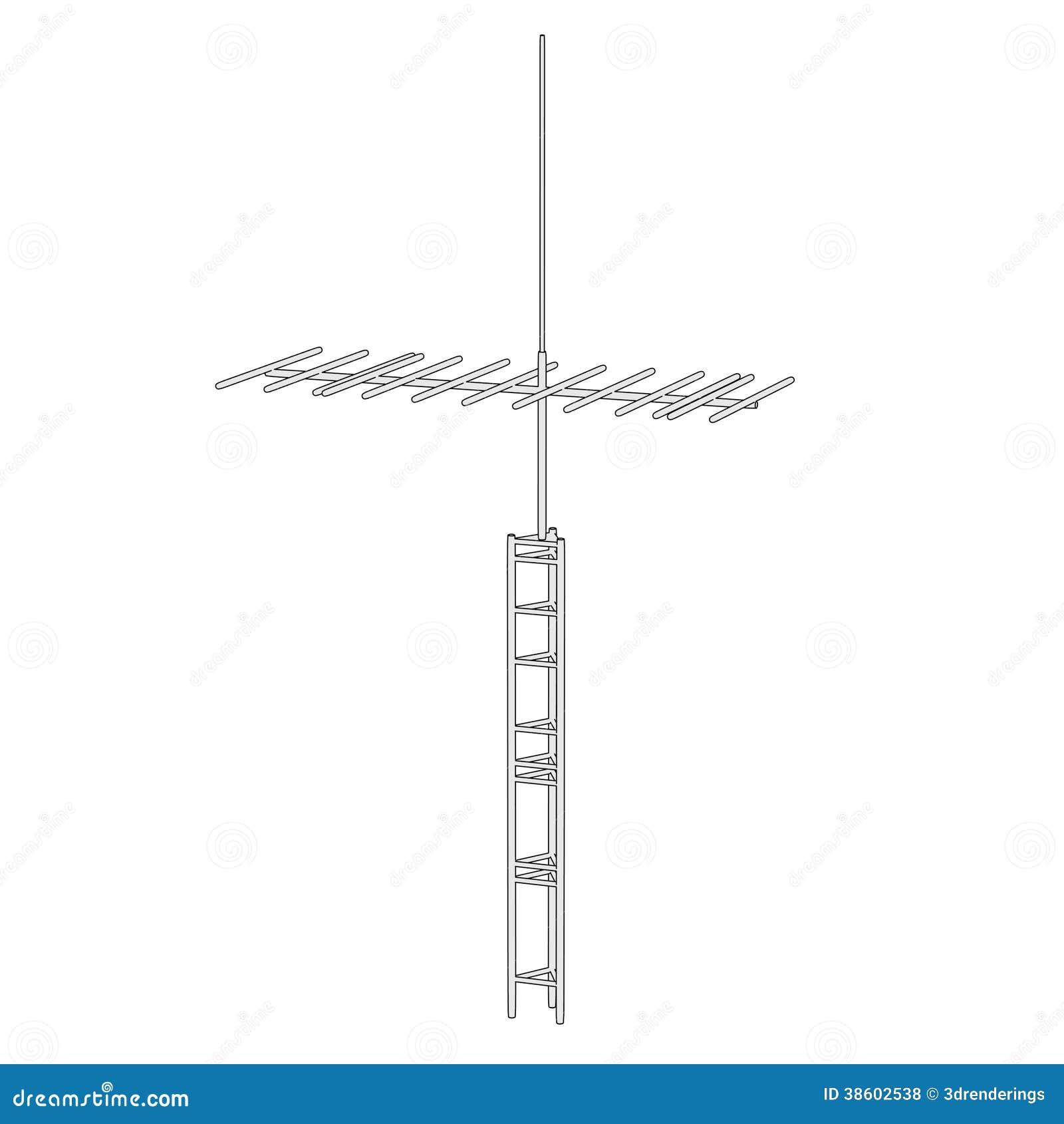 image d 39 antenne de tv illustration stock illustration du illustration 38602538. Black Bedroom Furniture Sets. Home Design Ideas