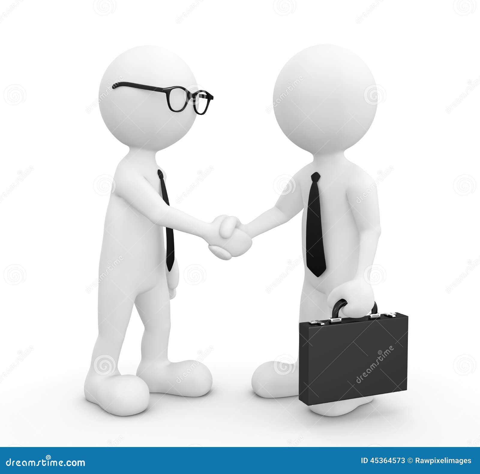 image 3d de poign e de main de deux hommes d 39 affaires illustration stock illustration du id es. Black Bedroom Furniture Sets. Home Design Ideas
