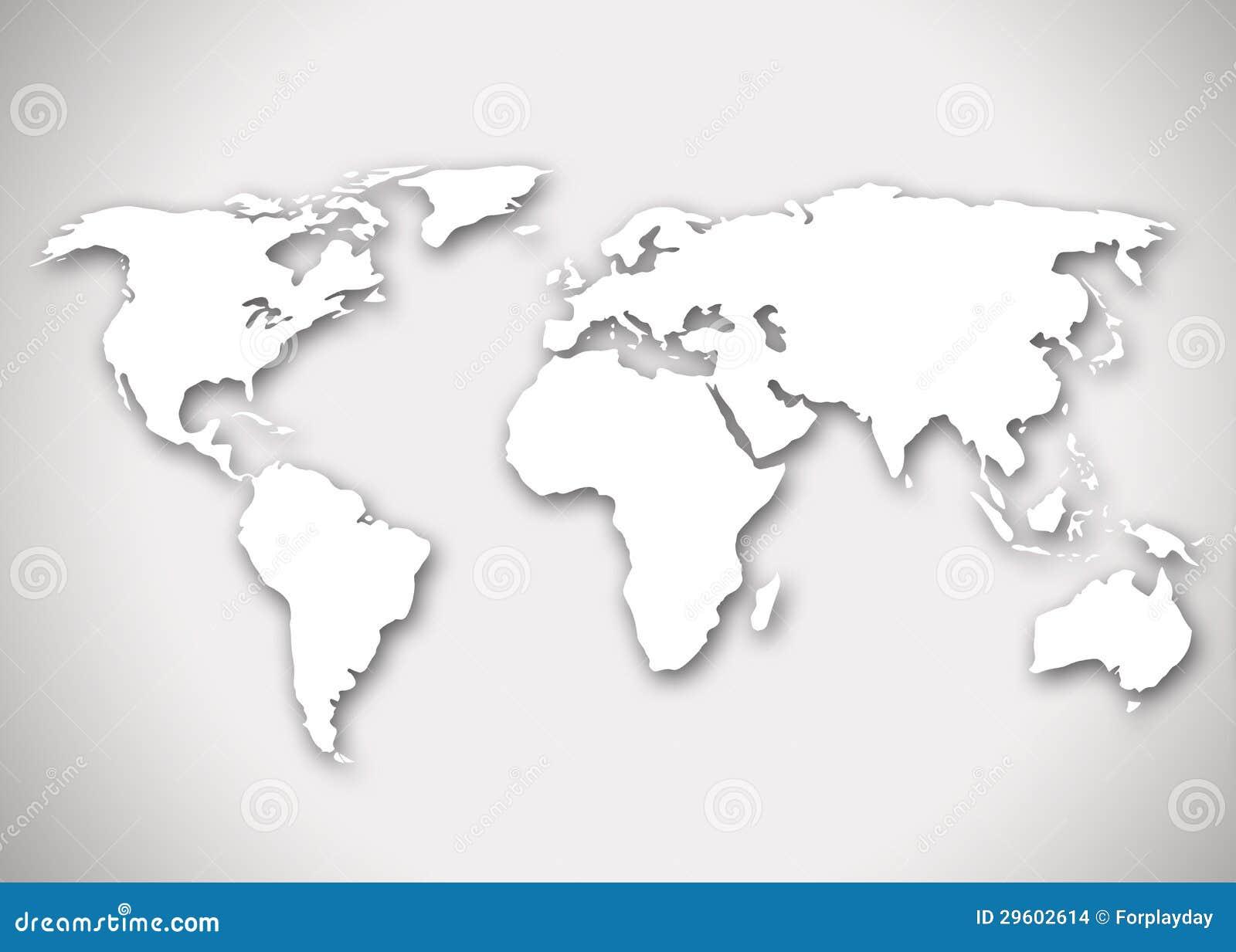 Image d 39 une carte stylis e du monde images stock image - Mappa del mondo contorno ks2 ...