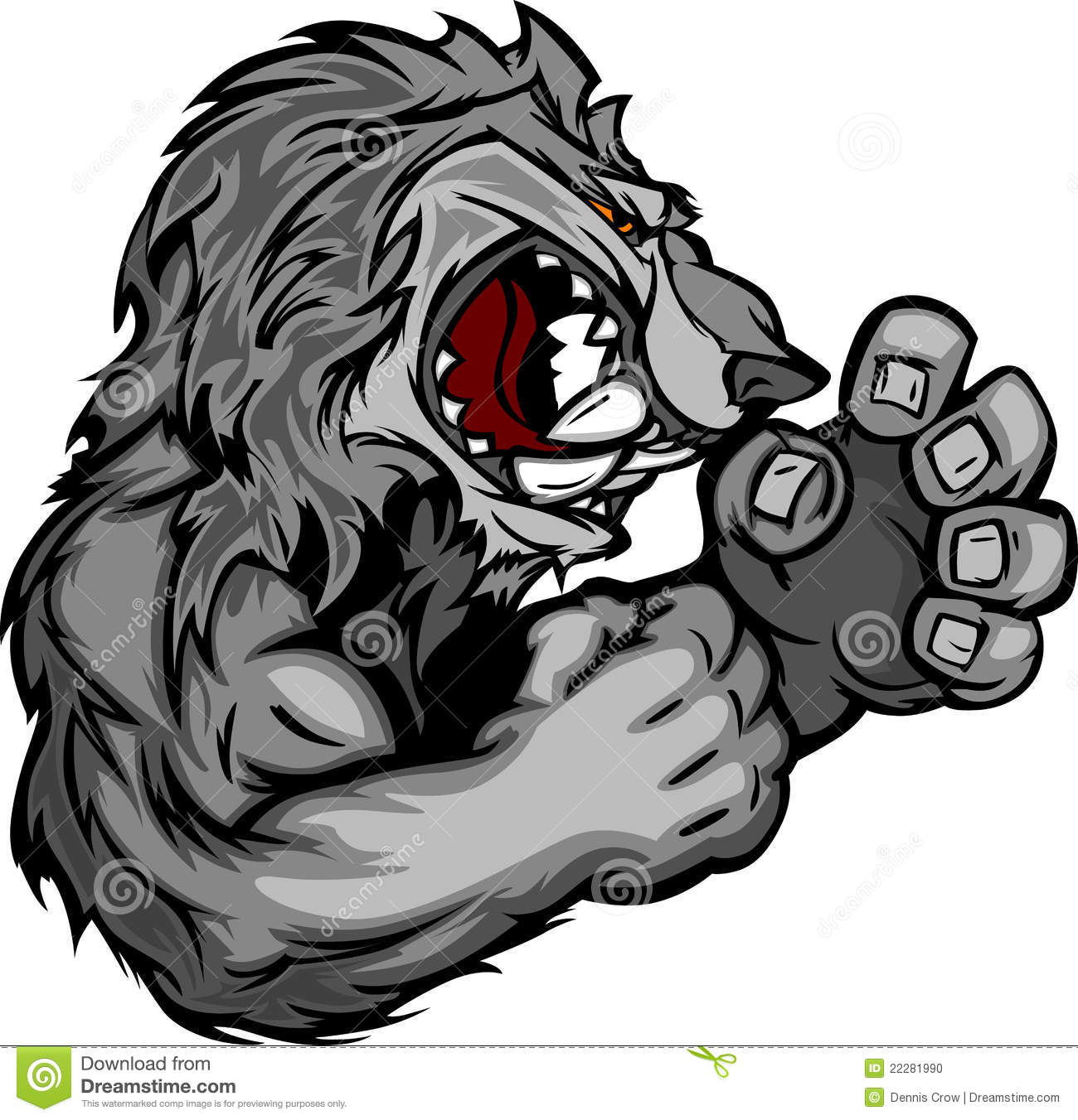 Image d 39 une mascotte de loup ou de coyote illustration de vecteur illustration du sports - Dessin de coyote ...