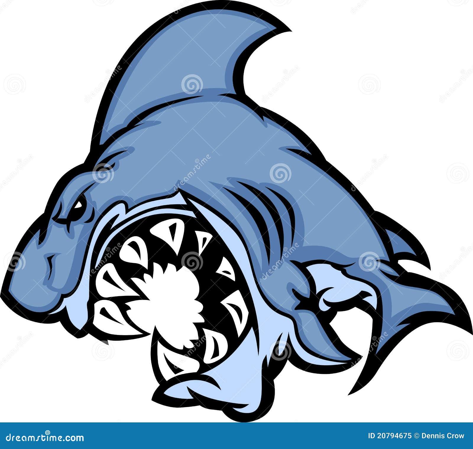 Image de dessin anim de mascotte de requin illustration de vecteur illustration du grand - Modele dessin requin ...