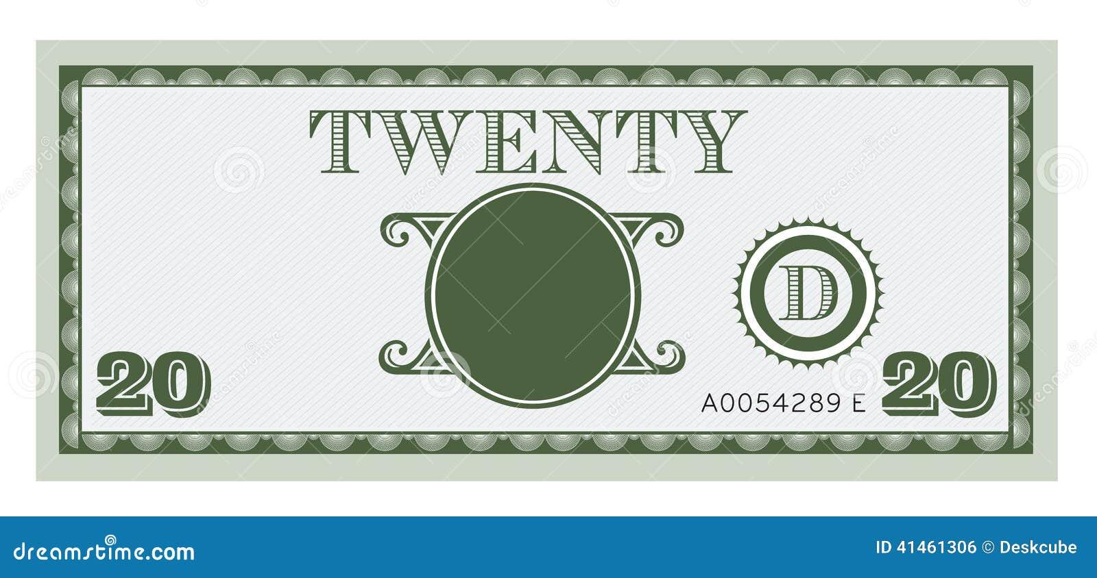 Image De Facture D'argent Vingt Avec L'espace Pour Ajouter ...