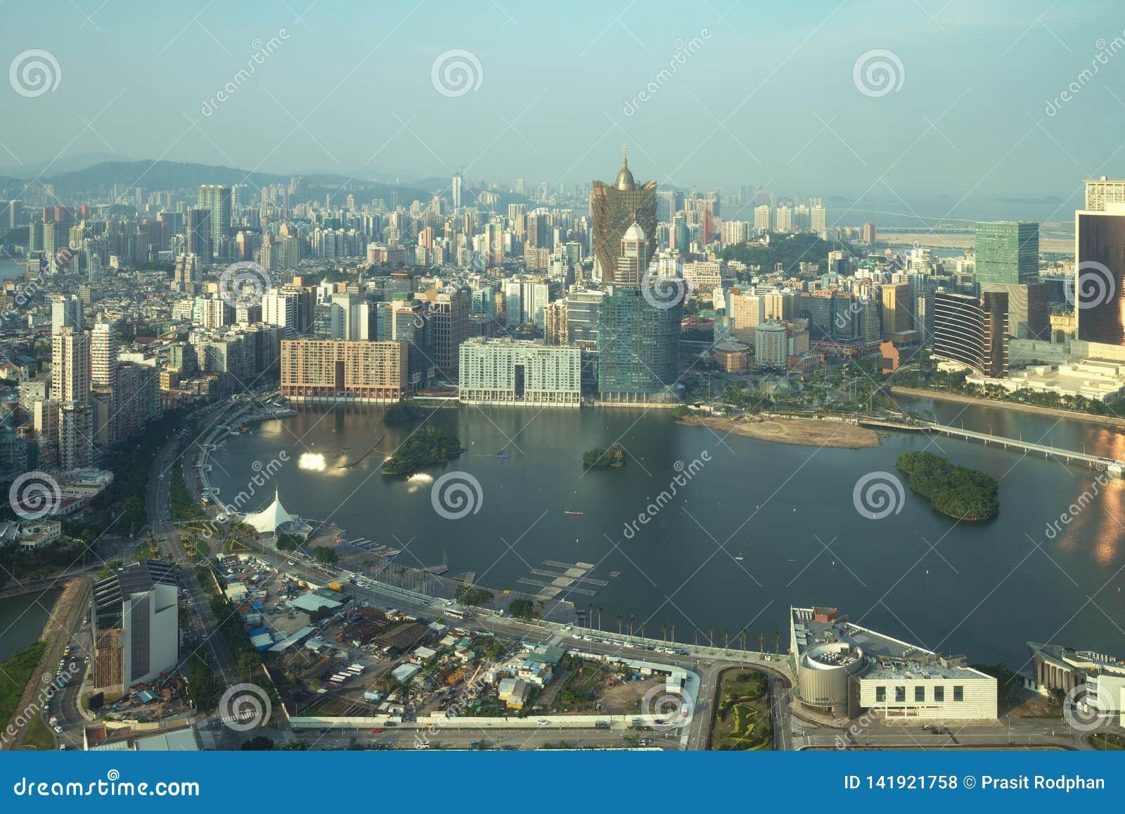 Image de Macao Macao, Chine Bâtiment d hôtel et de casino de gratte-ciel au centre ville dans Macao Macao