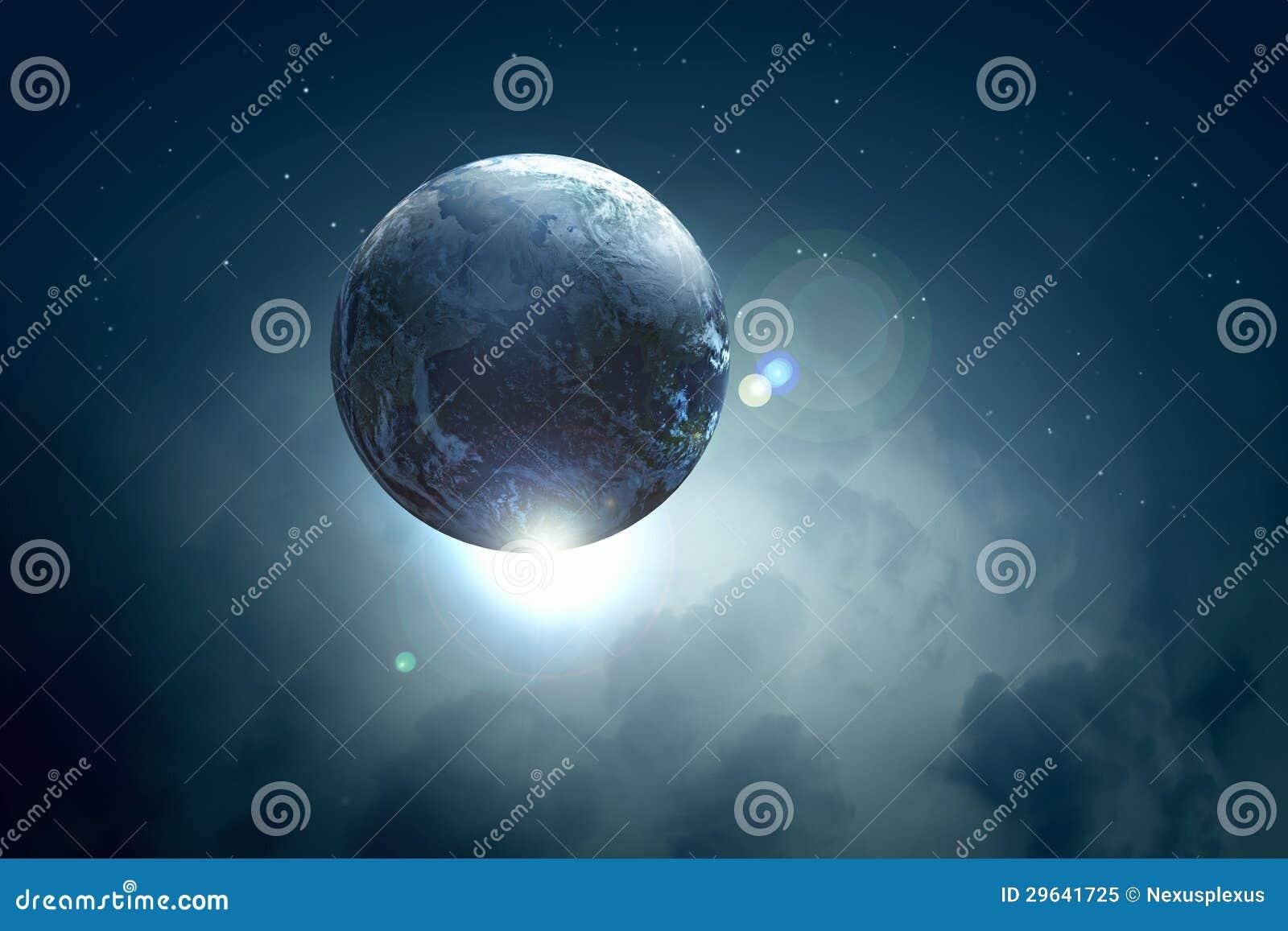 Image de planète de la terre dans l espace