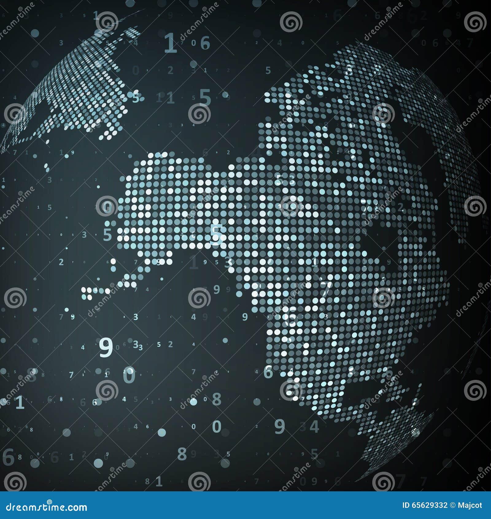Image de technologie de globe