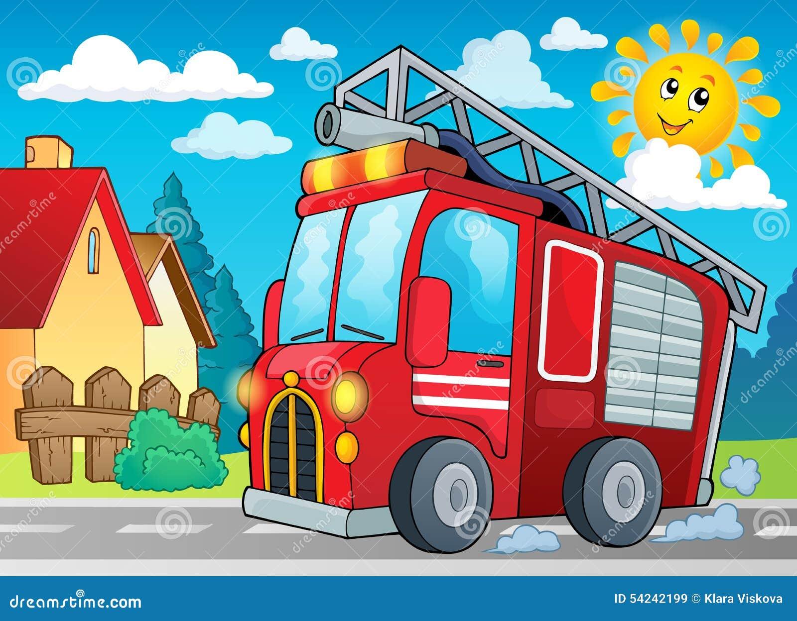 Image 2 de thème de camion de pompiers