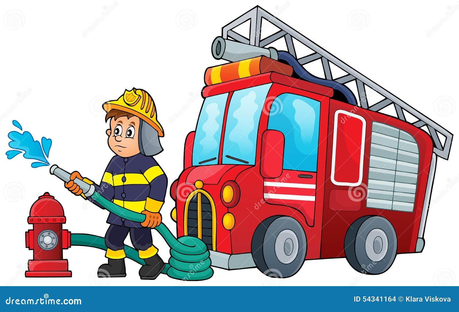 Coloriage camion pompier couleur - Camion de pompier dessin ...