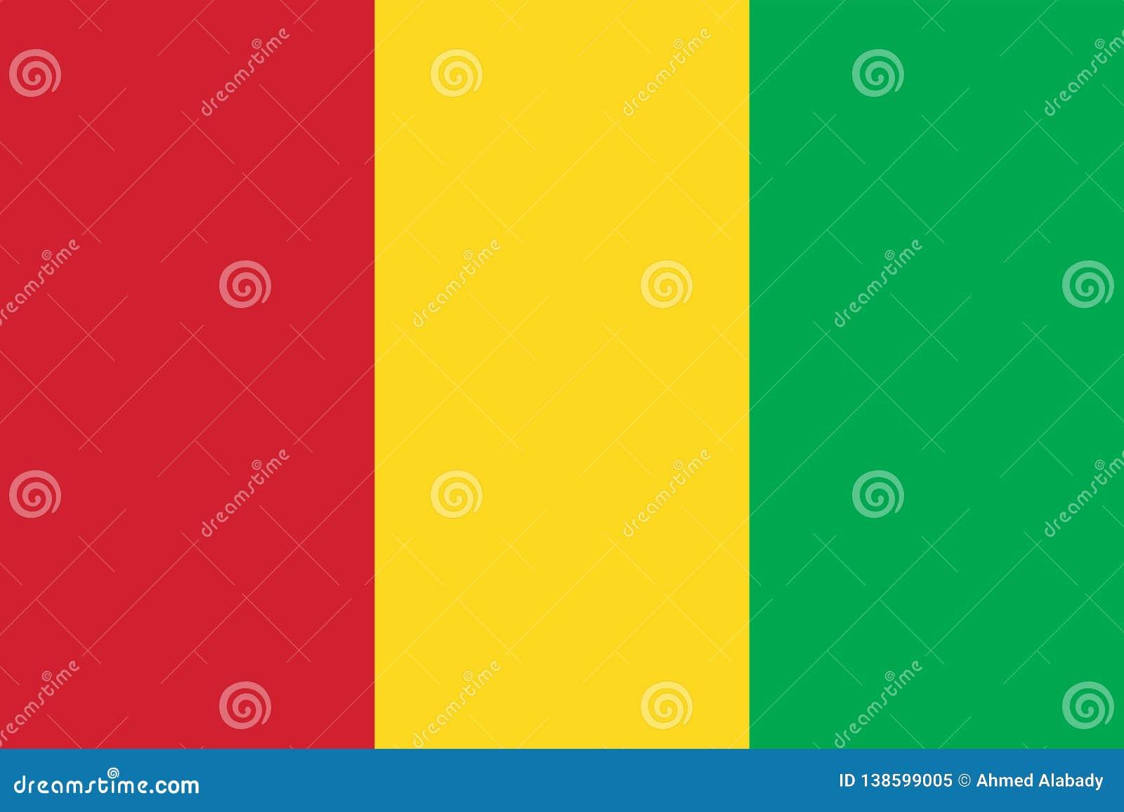 Image de vecteur de drapeau de la Guinée