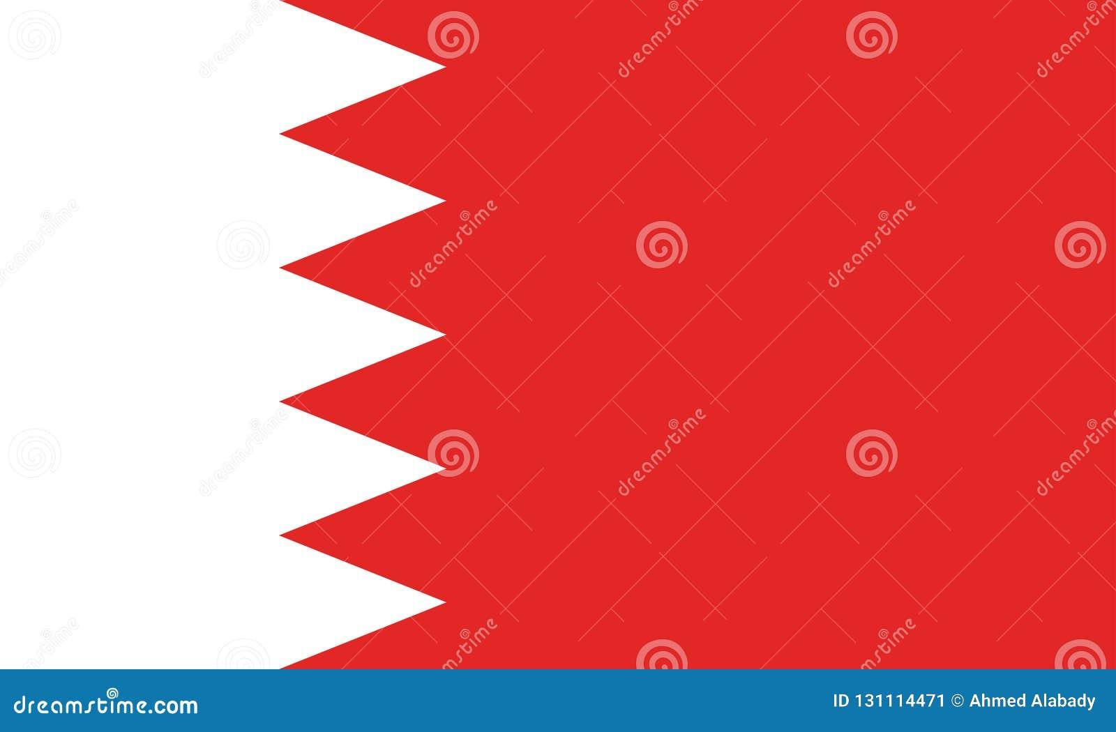 Image de vecteur pour le drapeau du Bahrain Basé sur le fonctionnaire et le drapeau bahreinite précis