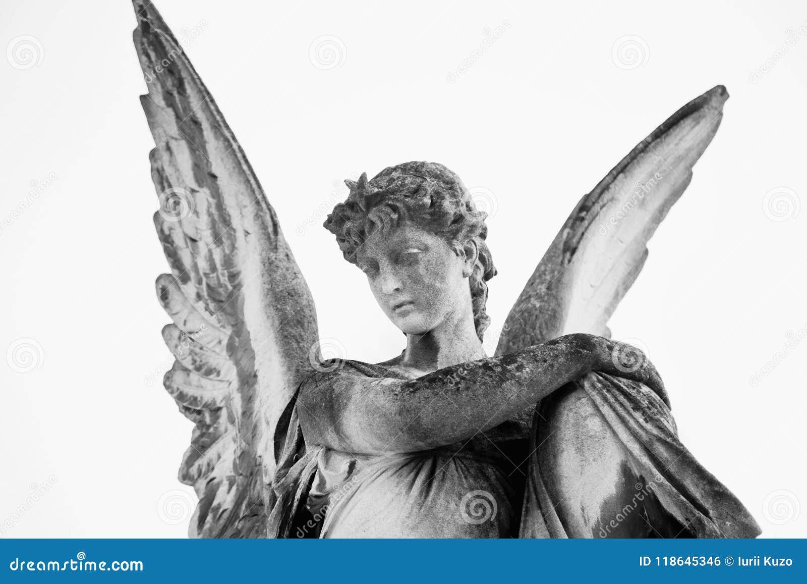 Image de vintage d un ange triste R?tro stylis? foi, religion,