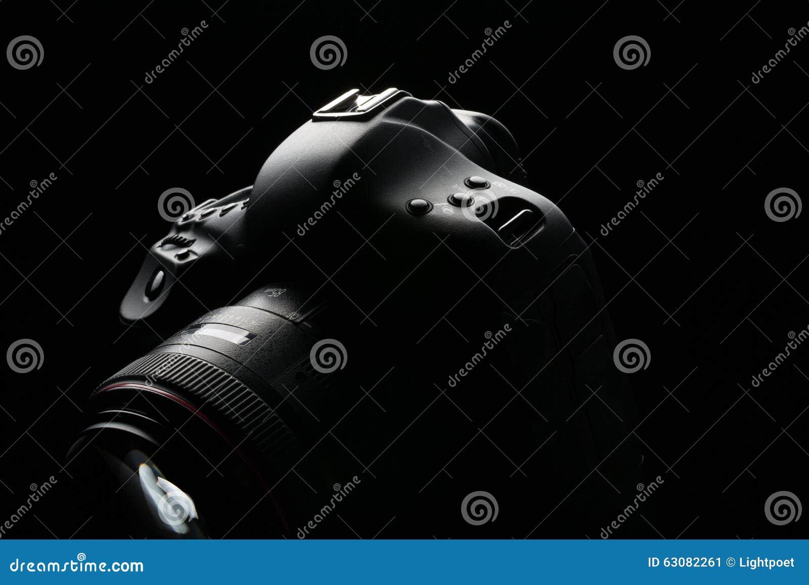 Download Image Discrète D'appareil-photo Moderne Professionnel De DSLR Image stock - Image du lentille, journaliste: 63082261