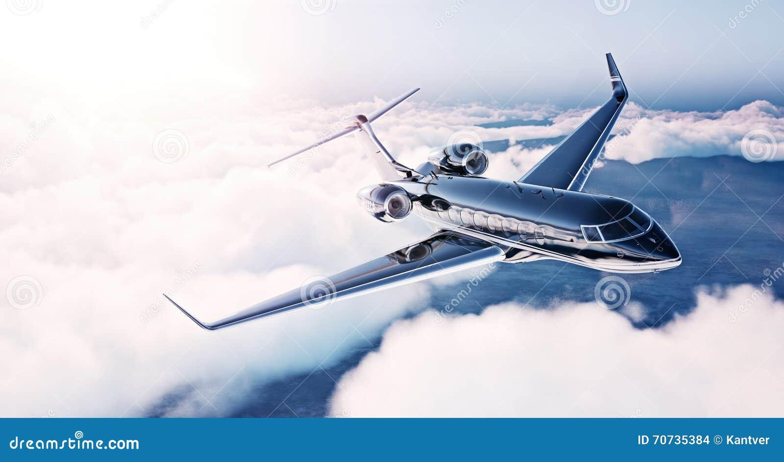 image du vol g n rique de luxe noir de jet priv de. Black Bedroom Furniture Sets. Home Design Ideas