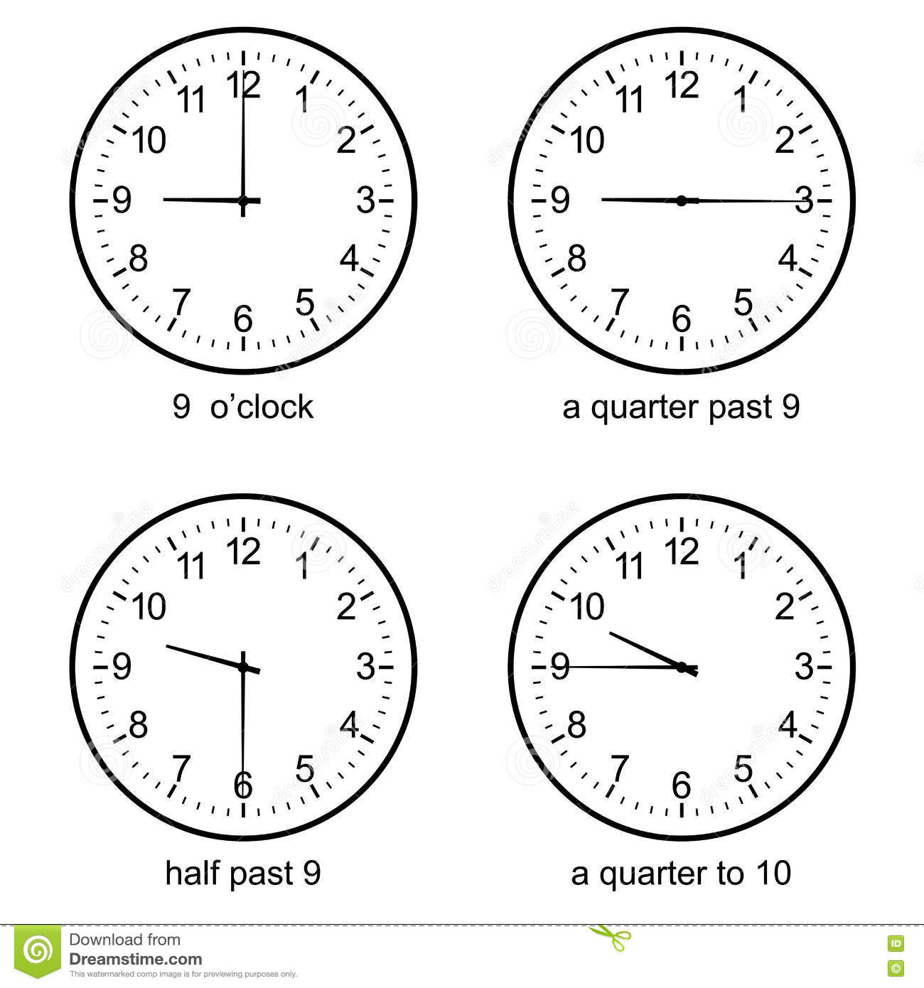 Worksheet Learn Clock image of early learning learn to tell time wall clock vector stock vector
