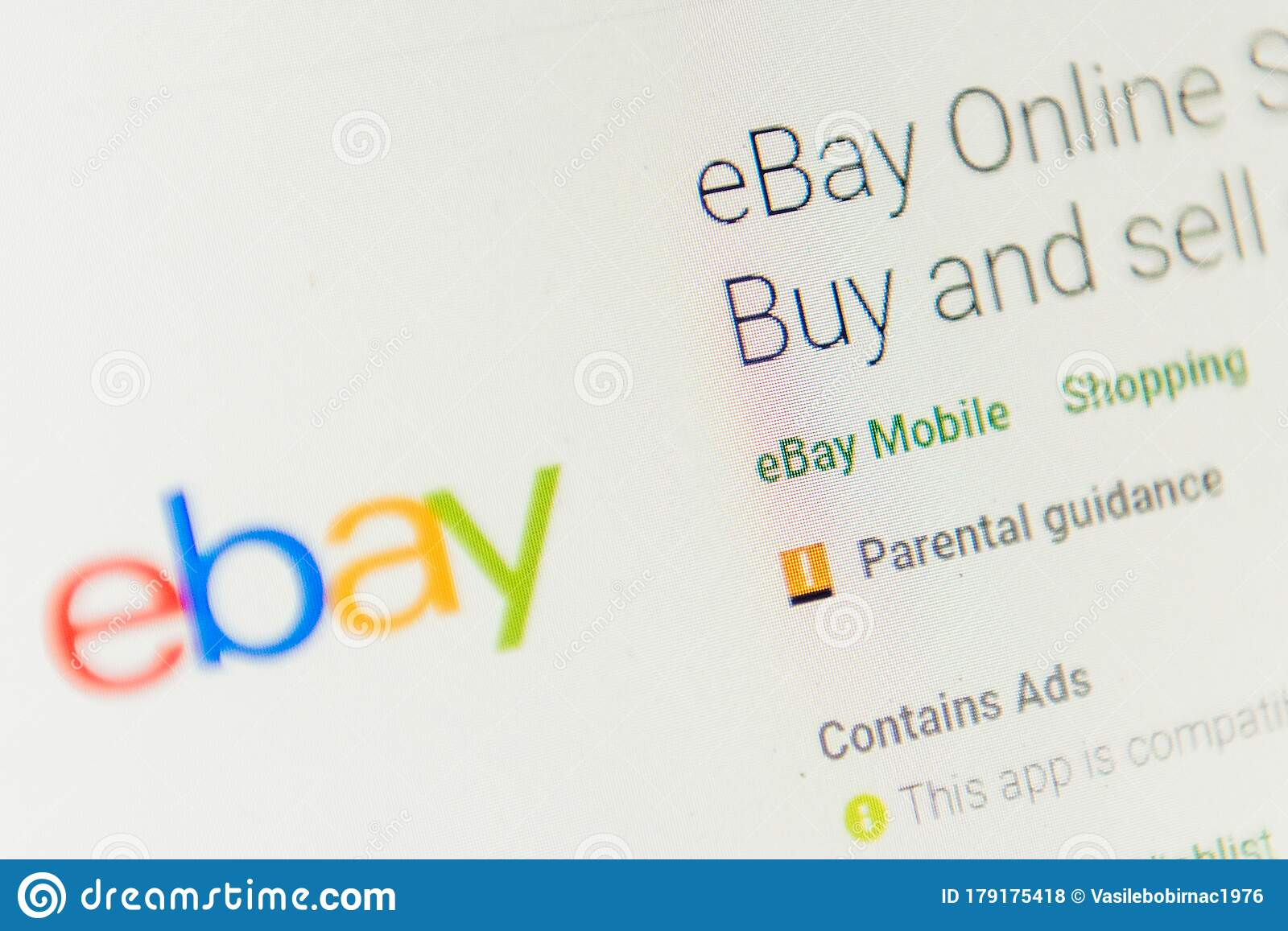 Ebay App Icon Selective Focus Editorial Stock Photo Image Of Loaded Screen 179175418