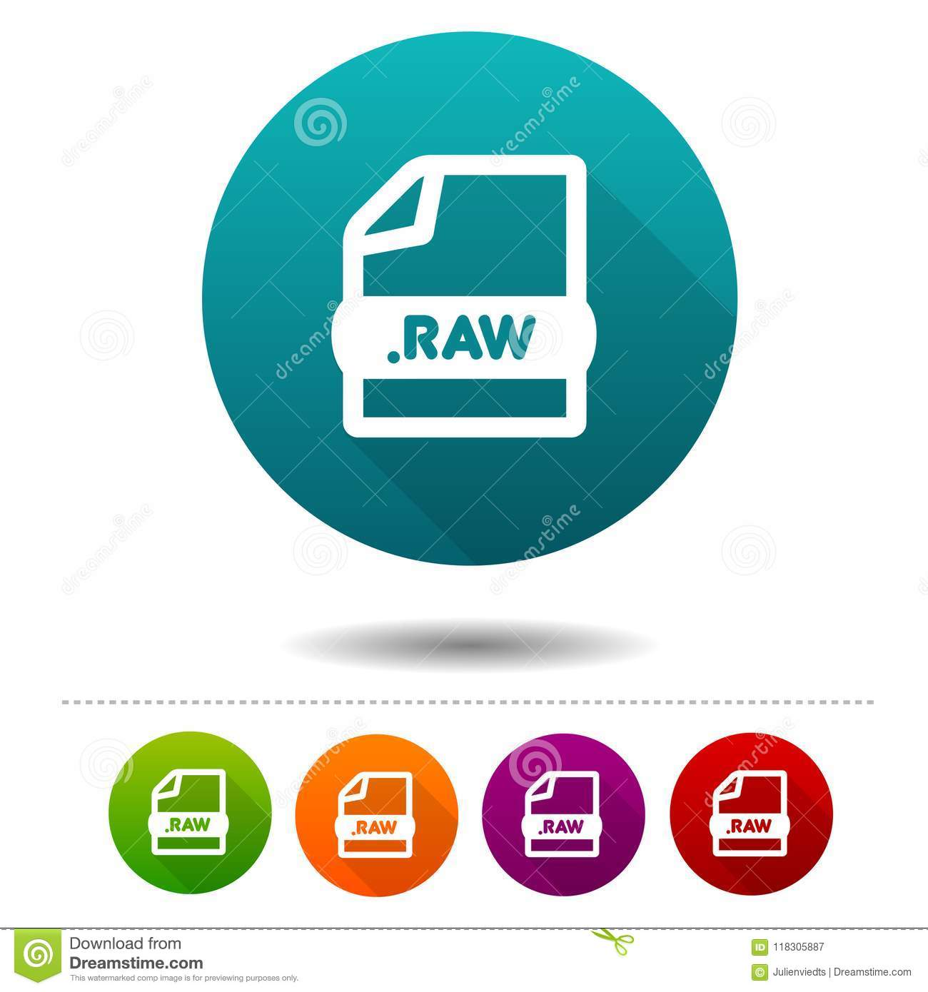 Image File Icon  Download RAW Symbol Sign  Web Button  Stock Vector