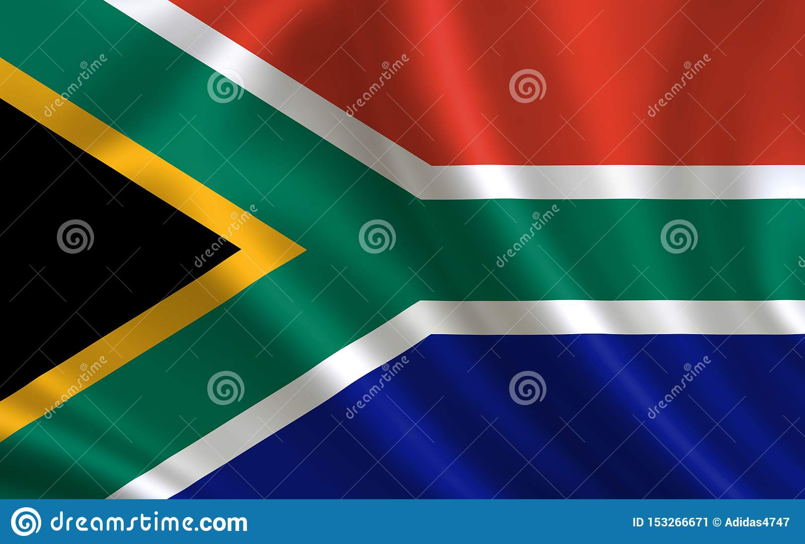 Image of the flag of the Republic of South Africa. Series `Africa`