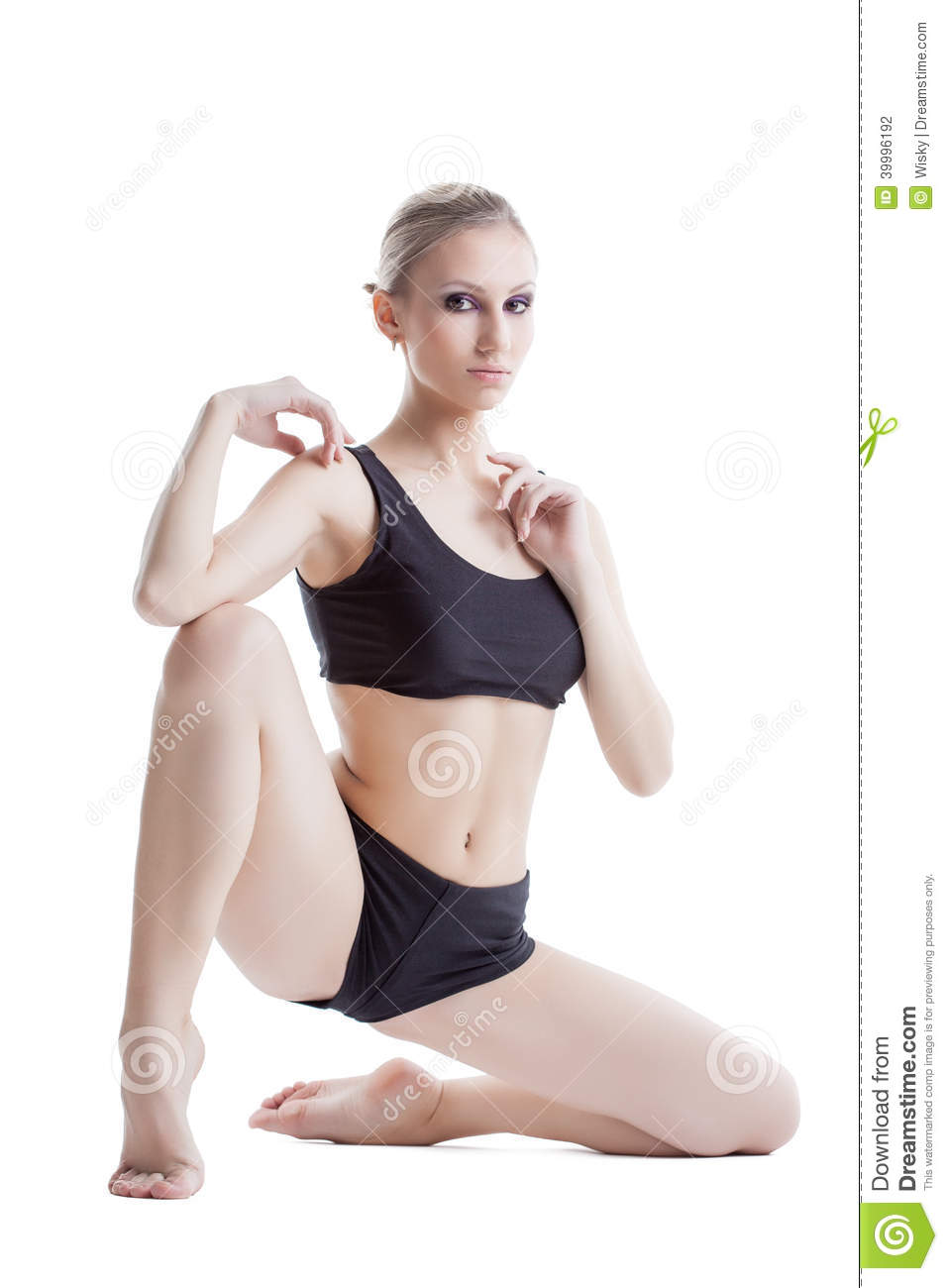 6092b21f21dd Image Of Flexible Sporty Woman Posing At Camera Stock Photo - Image ...