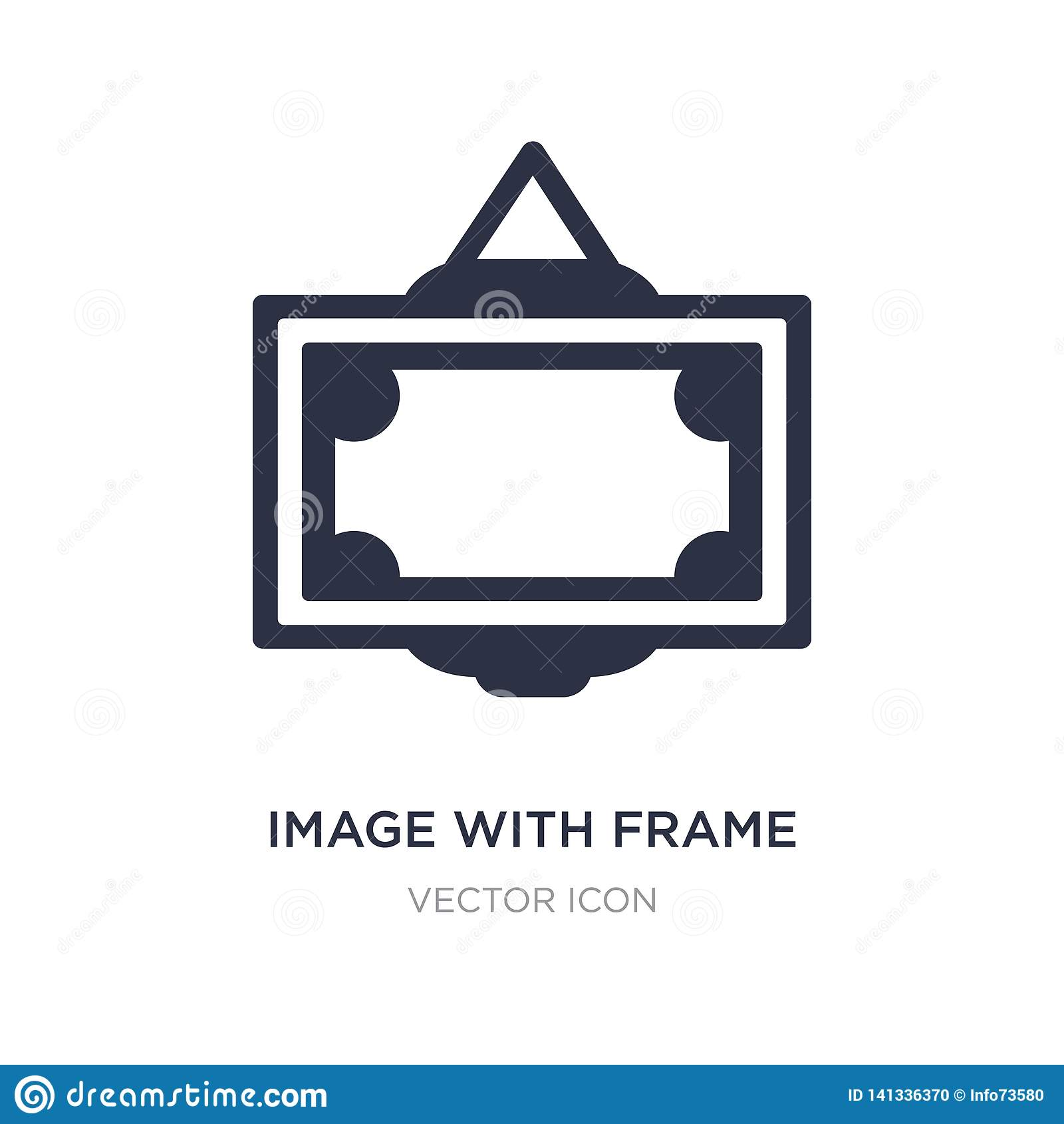 image with frame icon on white background. Simple element illustration from UI concept