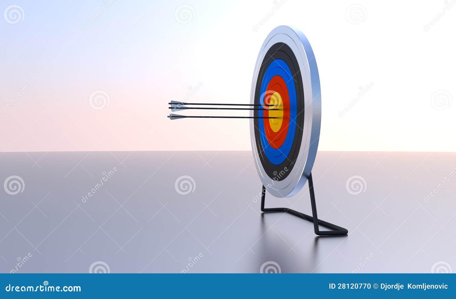 Image générée par ordinateur de cible de tir à l arc
