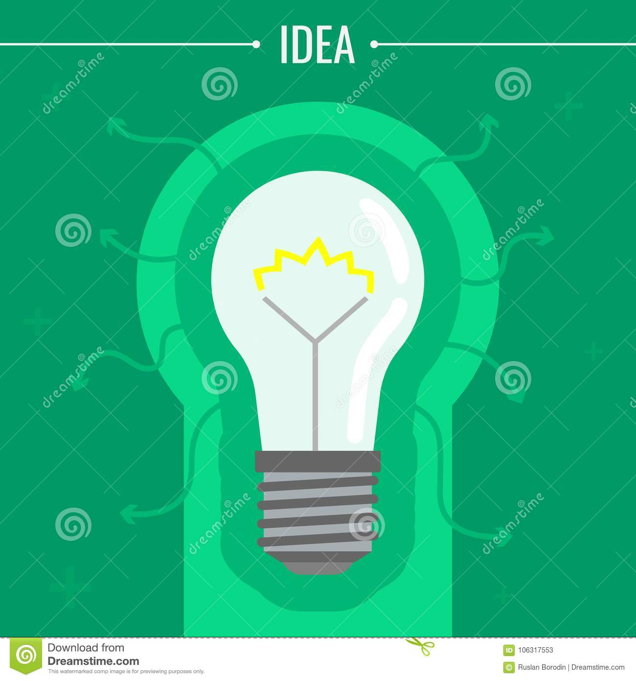 An Image Of A Glowing Light Bulb Concept Ideas Vector Diagram The Incandescent How Flourescent Download Illustration Stock