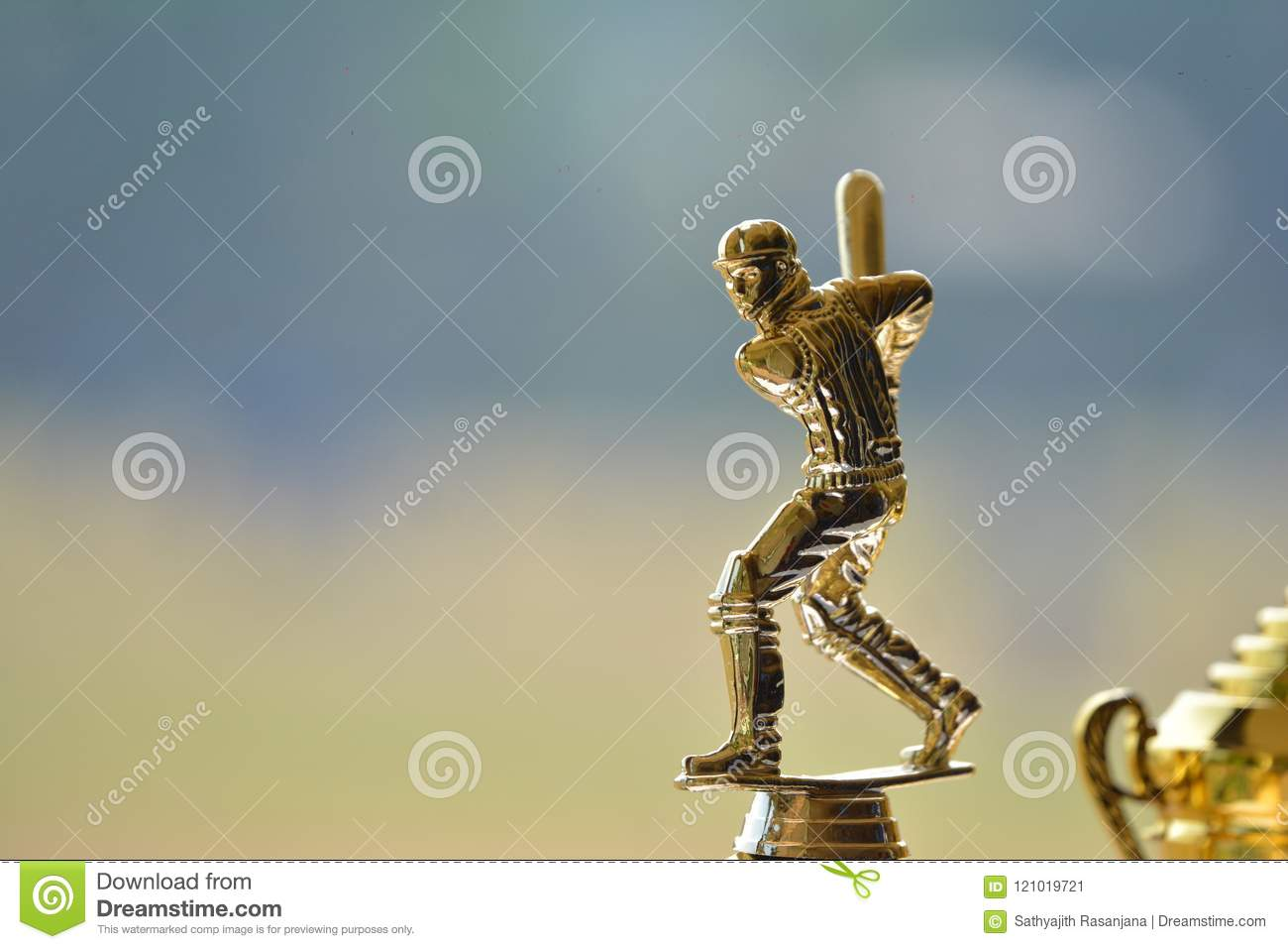 Cup for man of the series of cricket tournament