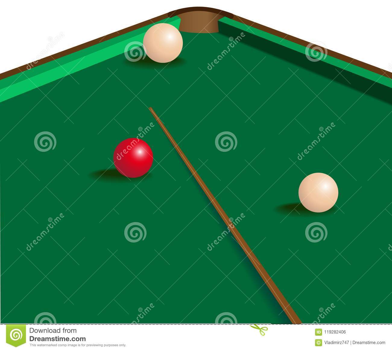 Vector Image Of The Billiard Table