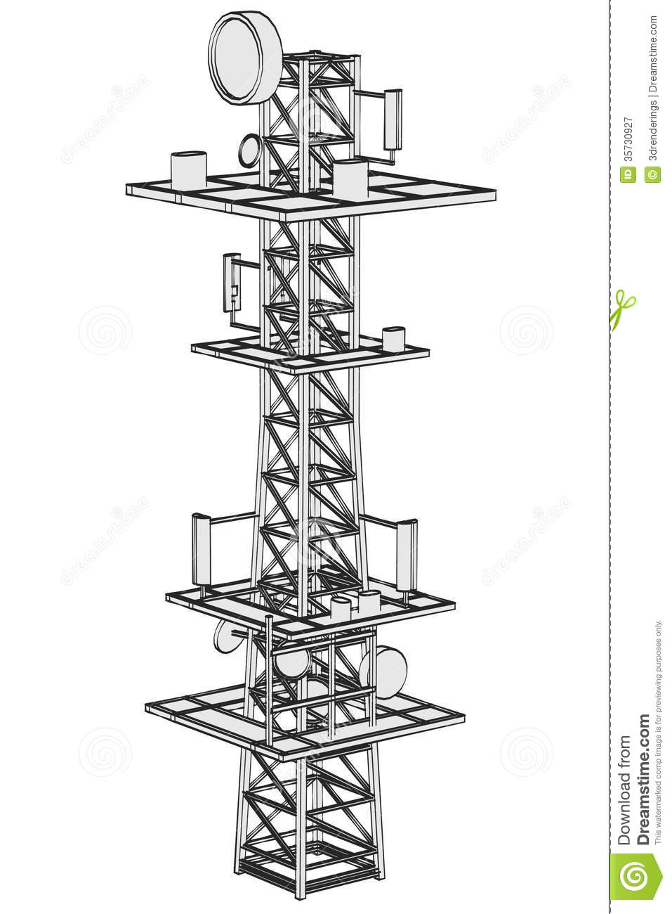 Image of gsm tower stock illustration  Illustration of connection