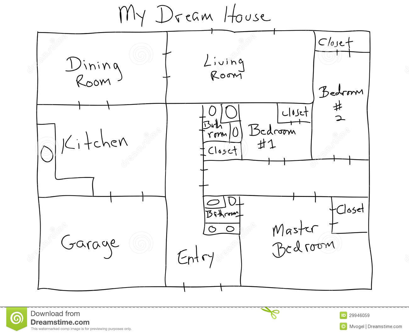 My dream house stock illustration image of planning for Floor plans for my home
