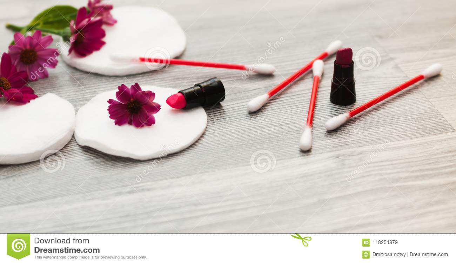 Image Of Homemade Cosmetics Ingredients  Aroma Theme  Cotton Sponges