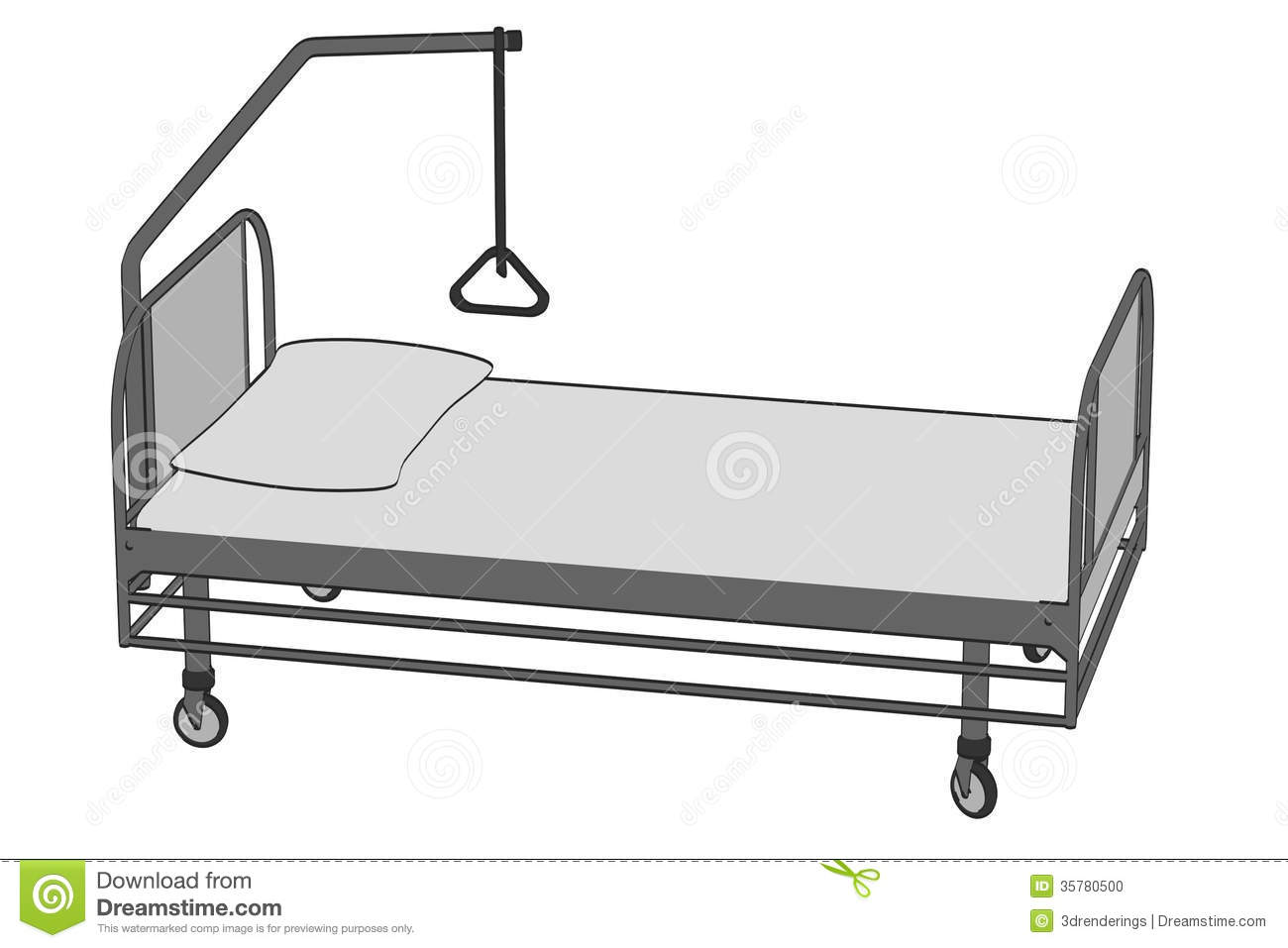 Image Of Hospital Bed Stock Illustration Illustration Of