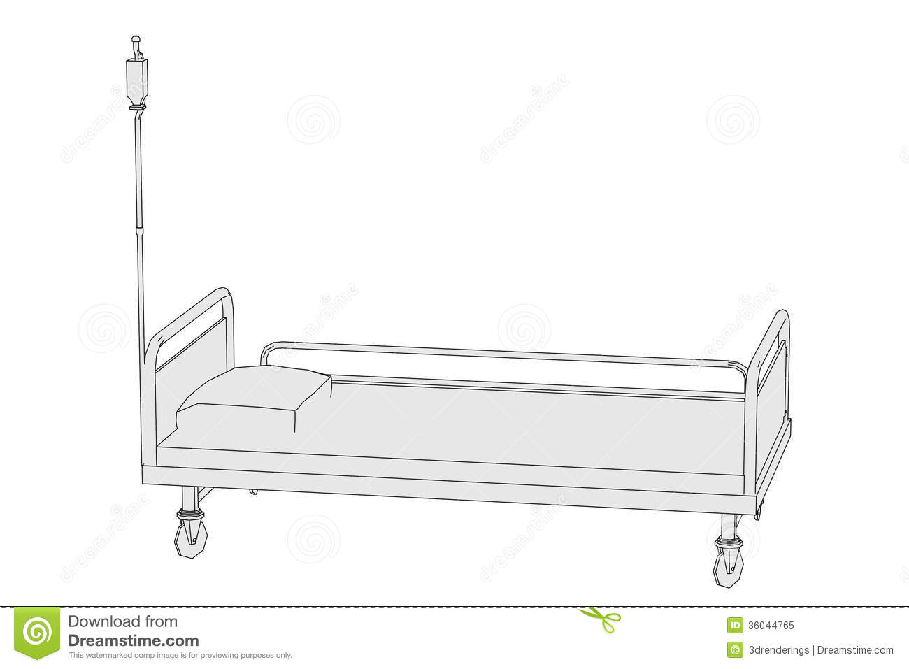 Image Of Hospital Bed Royalty Free Stock Photo Image