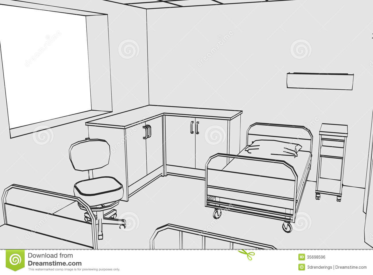 Image Of Hospital Room Royalty Free Stock Image 35698596