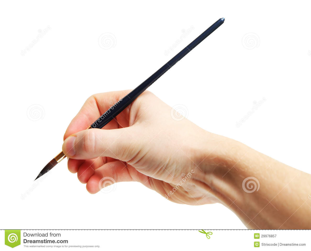 How To Hold A Paintbrush To Paint A Picture