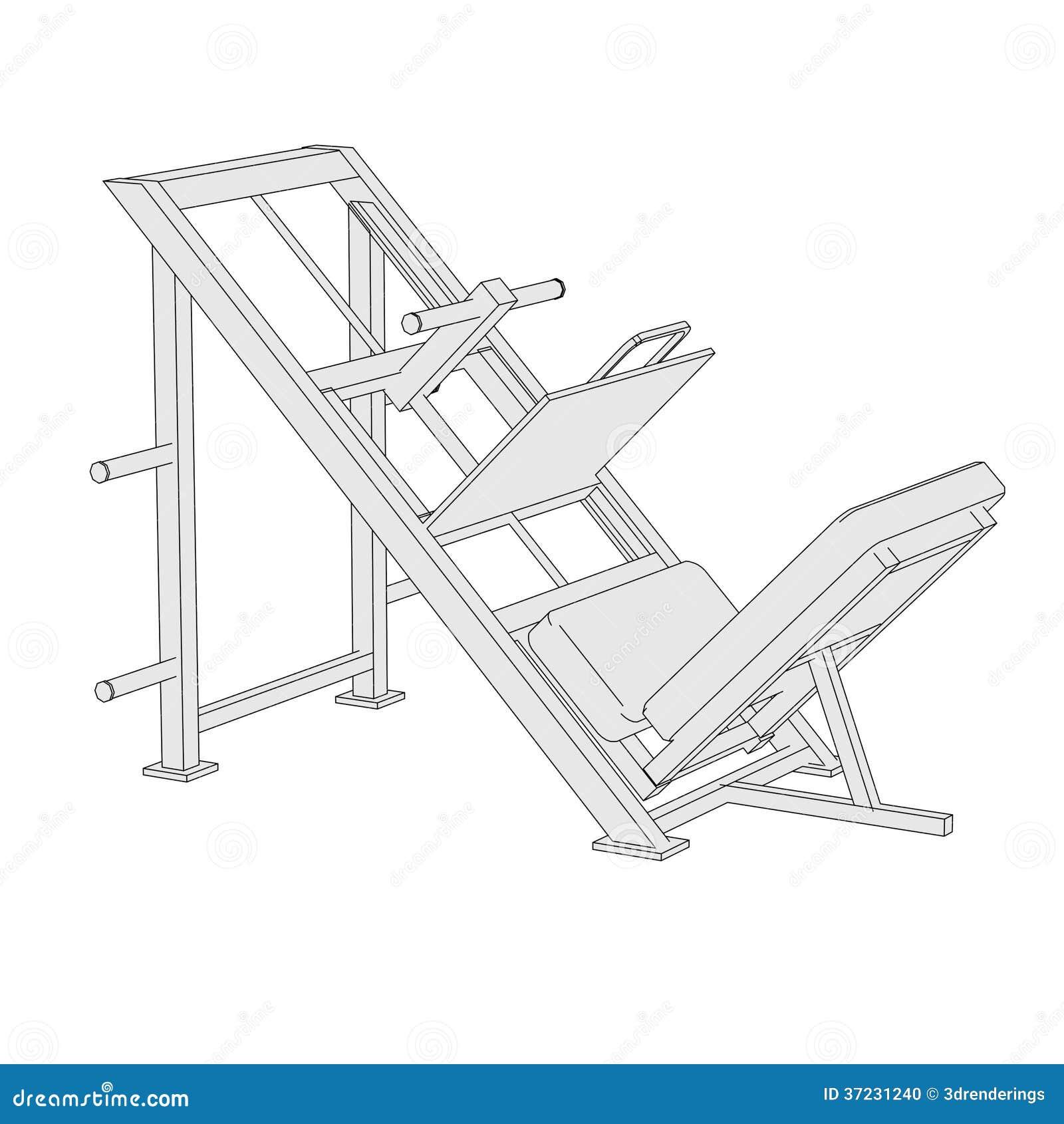 Image Of Leg Press Stock Photo - Image: 37231240
