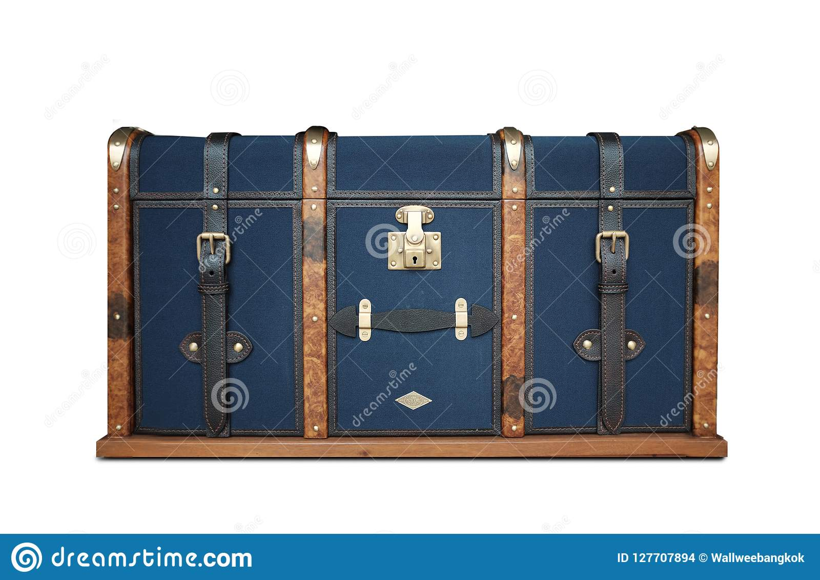 image of a luxtury chest isolated on a white background.