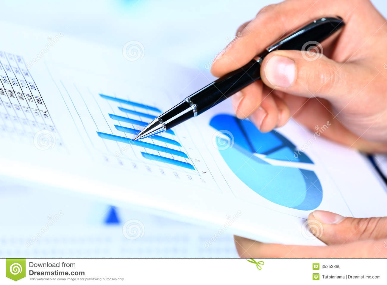 Image Of Male Hand Pointing At Business Document During Discussion – Business Document