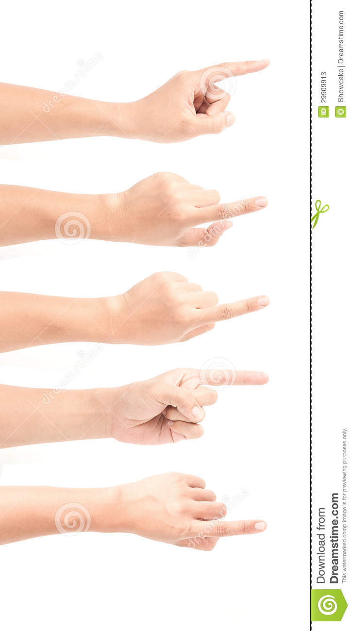 Image of a man 39 s finger pointing stock photos image for A different angle salon