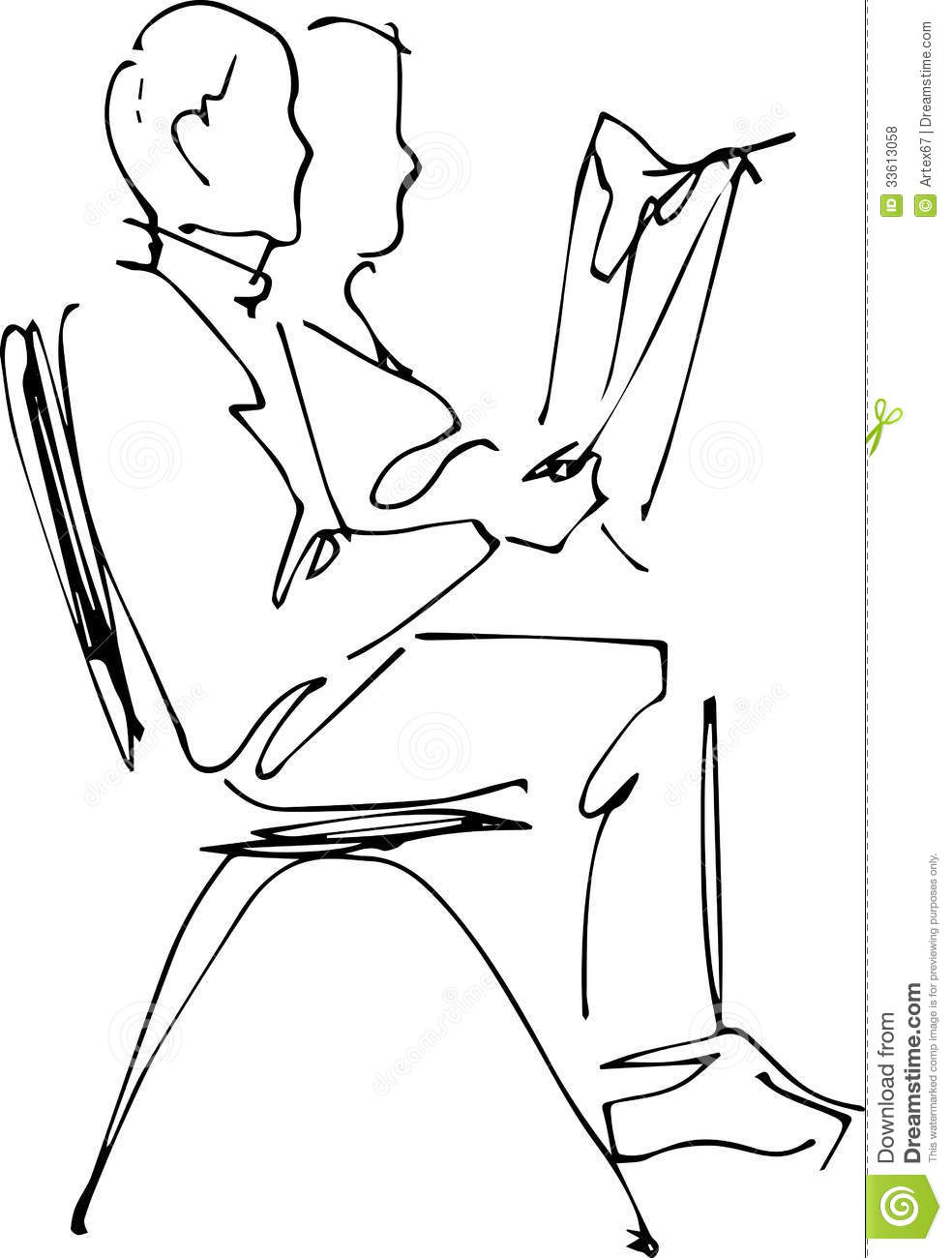 Man sitting in chair drawing - Chair Image Man Reading Sitting Paper Hands Focused Drawing