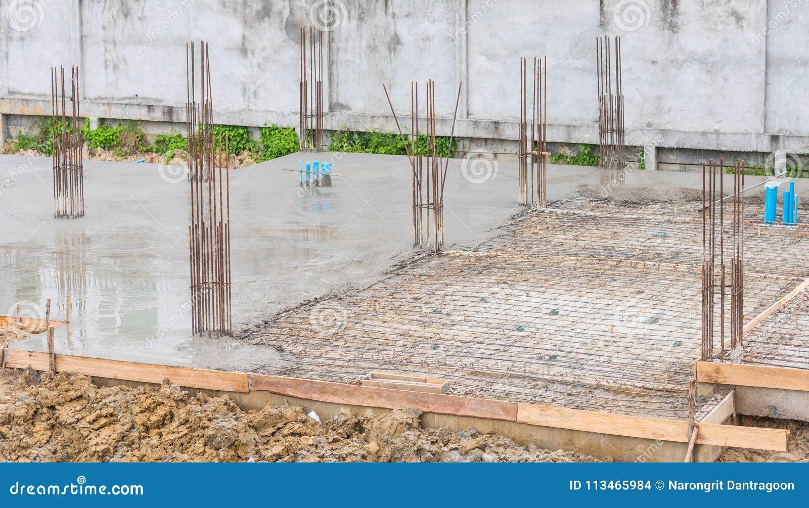 Basement Building Under Construction Stock Photo Image Of Construction Column 113465984