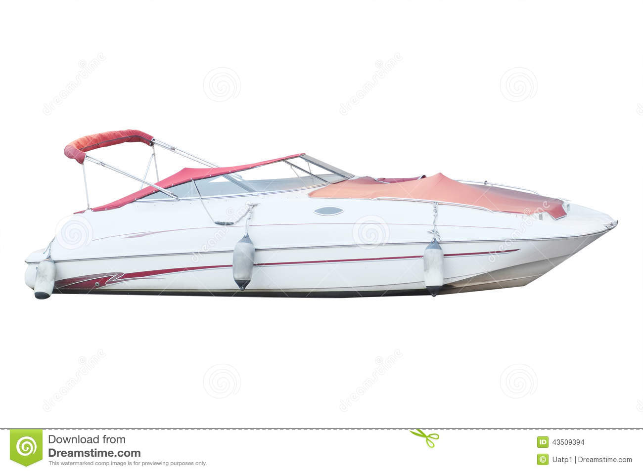 The Image Of A Motor Boat Stock Photo - Image: 43509394