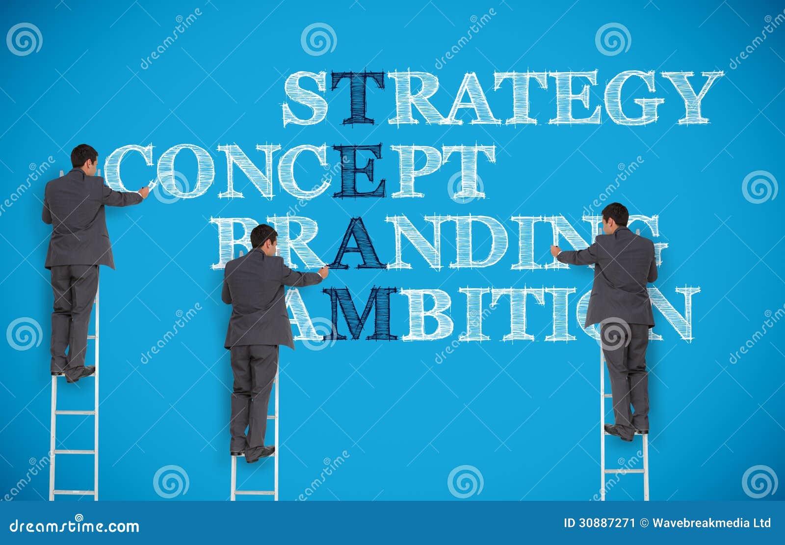 Image multiple des termes d affaires d écriture d homme d affaires