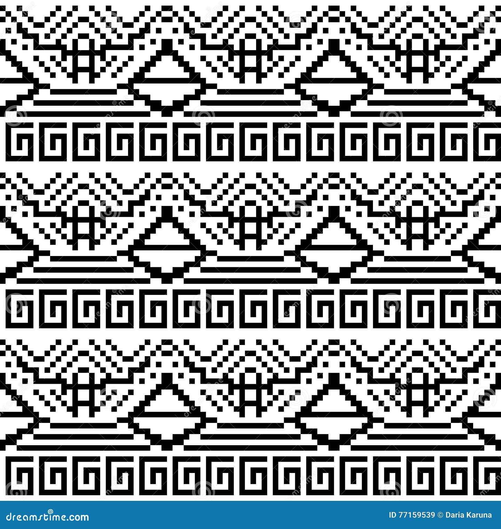 Image noire et blanche des formes géométriques