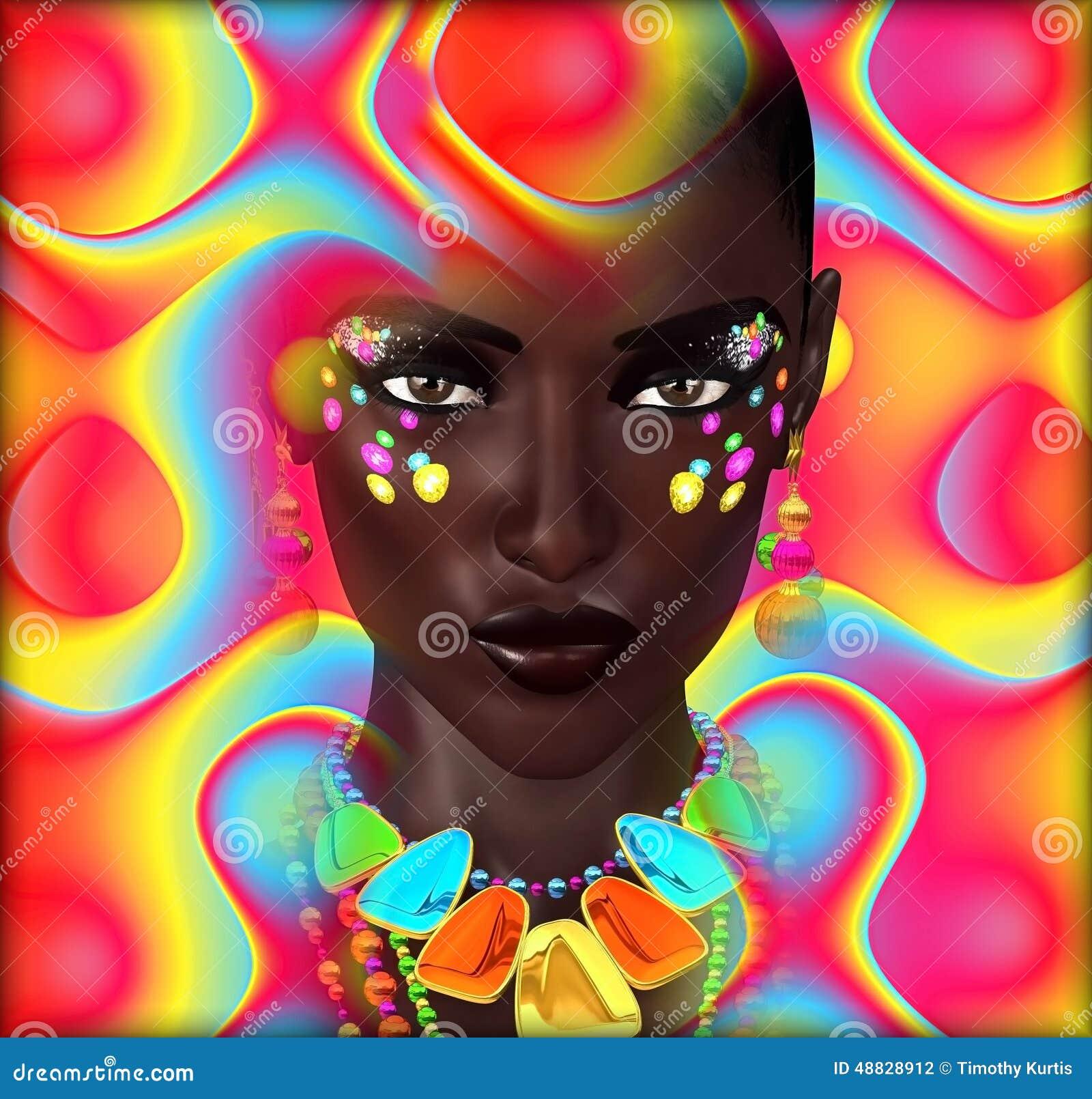 image-num%C3%A9rique-abstraite-d-art-de-la-fin-du-visage-d-une-femme-48828912