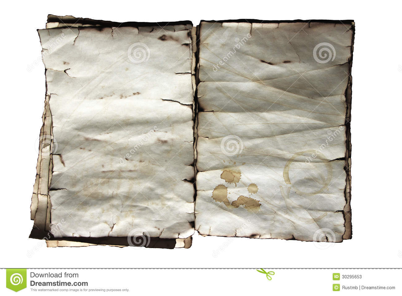 Torn Paper Book Cover : Vintage old paper texture book stock photos image